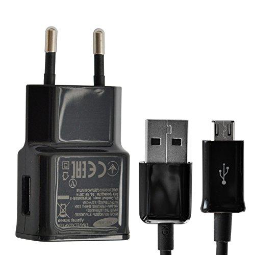 Original Samsung Ladegerät Ladekabel  Datenkabel in Schwarz für Galaxy S5 Mini -  2A Ampere 2000 mAh - Micro USB (Galaxy Ace 2 S6810)