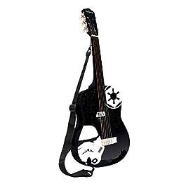 LEXIBOOK- Guitare Acoustique Star Wars Rey Poe Finn BB-8 Chitarra Acustica in Legno, Guida all'apprendimento Inclusa, Nero/Bianca, K2000SW_04, Colore