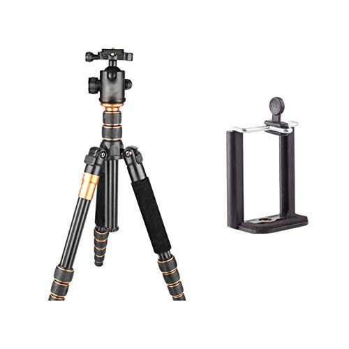 Tragbares Kamerastativ Einbeinstativ, leichtes und tragbares Stativ aus Aluminiumlegierung, kann als Wanderstock verwendet werden, mit Aufbewahrungstasche, Maximale Belastung 15 kg, Schwarz, Multi-Sty