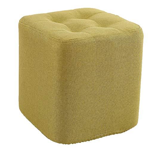 Hocker Arbeitshocker Sitzhocker Sitzbank Tuch Zu Hause Kleine Hocker Sofa Hocker Massivholz Quadrat Hocker Wohnzimmer Kleine Bank FENGMING (Farbe : Matcha, größe : S) -