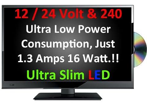 Télévision ultrafine LED numérique TDT USB Enregistreur DVD 50,8 cm [20