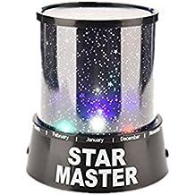Moda Colorido dormitorio estrella del cosmos del proyector del amo de la noche estrellada del cielo de luz de lámpara