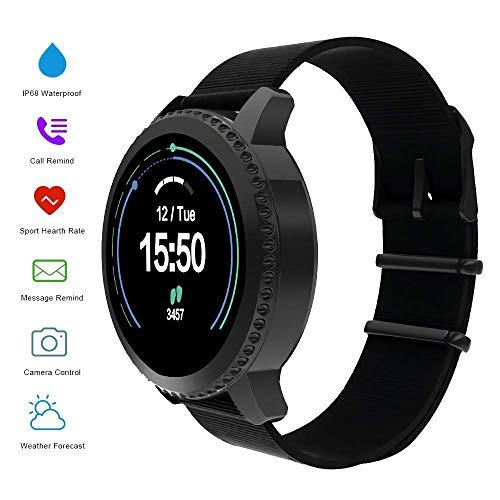 MATEYOU Mate5 Fitness-Tracker mit personalisiertem Thema Personalüberwachung IP68 Schwimmen Wristband Fitness mit HR Monitor, Schrittzähler für Frauen Kinder, Schwarz (Fitness-tracker-hr-monitor)
