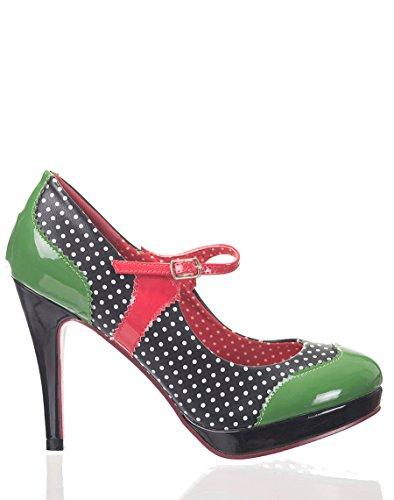 Dancing Days MARY JANE Polka Dots Riemchen HIGH HEELS Pumps Rockabilly -