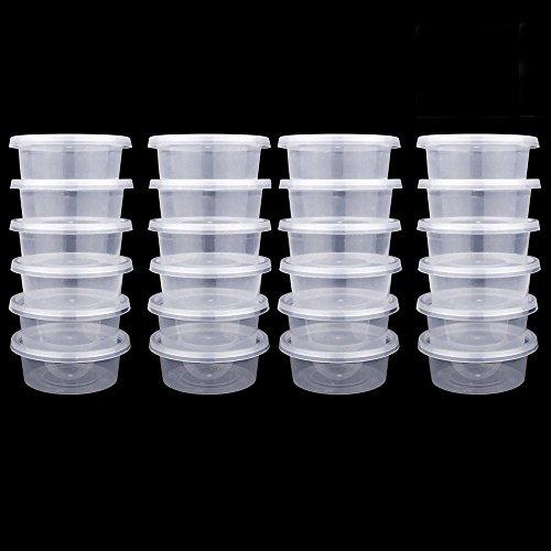 Yogogo 25 PièCes En Mousse Boule BoîTes De Rangement Avec Couvercles RéCipients En Plastique De Boule Conteneurs De Stockage Slime