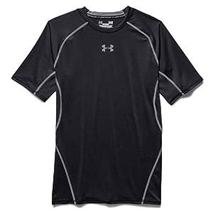 Under Armour Herren Kompressions-Shirt UA HeatGear Armour kurzärmlig, Funktionshirt mit Netzstoffeinsätzen, Sportshirt mit ultraengem Schnitt