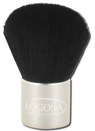 LOGONA Naturkosmetik Kabuki Brush, Puderpinsel, aus feinstem Ziegenhaar, perfekt zum Auftragen von...