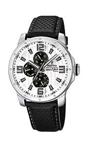 Reloj Festina F16585/5 de cuarzo para hombre con correa de piel, color negro de Festina