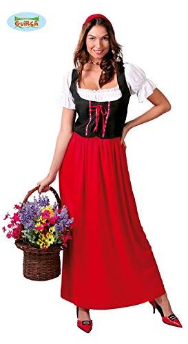 Wirtin Bäuerin Mittelalter Karnevals Braunes Kostüm für Damen Rotkäppchen Schenke Gasthof Gr. M-XL, Größe:M