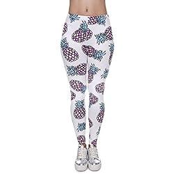 Señoras Nuevo Diseño Pantalones Cortos De Impresión De Piña Pantalones De Yoga Pantalones De Entrenamiento Activo Medias Elásticas Pantalones De Ropa Deportiva,41573-OneSize