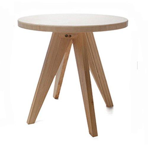 QIN PING GUO Table Basse À Fenêtre Flottante Style Scandinave Petite Appartement Canapé Angle Latéral En Bois Massif Rond ( taille : S )