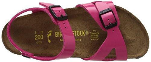Birkenstock Rio, Sandales mixte enfant Rose (Vernis Pink)