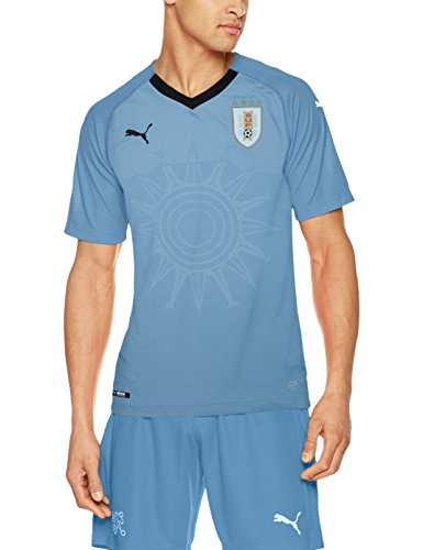 Puma Uruguay Home Replica Shirt - Silver Lake Blue Black, Small