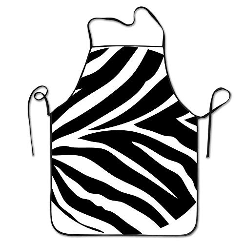 Zebra Kid Kostüm - HTETRERW Zebra Stripe \r\n Gag Dacron Unisex Adult Kids Children Durable Cooking Baking Kitchen Restaurant Chef Apron Pinafore with Neck Strap One Size