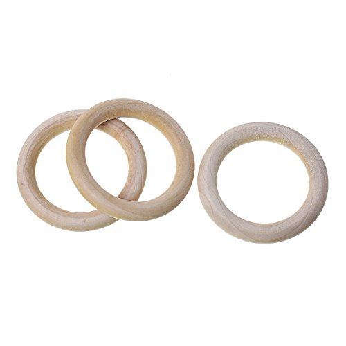 SiAura Material  - 5x Holz Ringe Natur, D. 67 mm