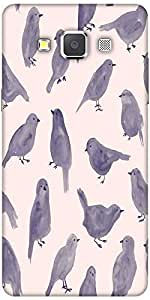Snoogg Pigeon Paint Hard Back Case Cover Shield For Samsung Galaxy A7