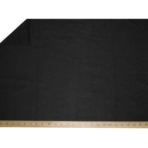"""LA Linen â""""¢ Polar Fleece by the yard 58/60-Inches Wide, Black by LA Linen"""