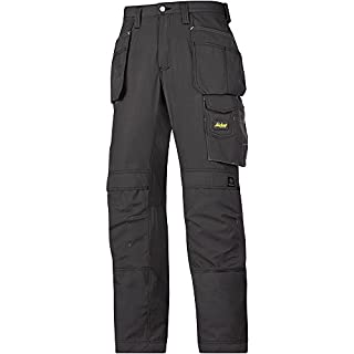 Snickers 32130404052 Craftsmen Holster Pocket Trousers Rip-Stop Size 52 in Black
