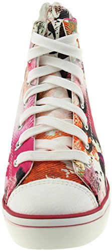 Maxstar  N7H-Zip, Chaussons montants femme Rouge - Printed-Red