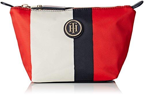Tommy Hilfiger Poppy Make Up Bag Vertical Stripe - Organizer borsa Donna, Rot (Rwb Stripe), 9x12x19 cm (L x H D)