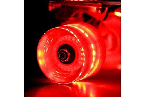 Sunset Skateboards, Cruiser Flare LED Rollen-rot (Skateboards-led Sunset)