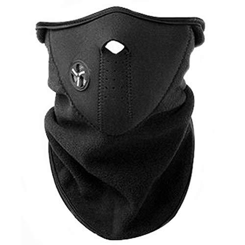 AKORD - Maske mit Neoprenhalsband für den Wintersport, schwarz, One Size