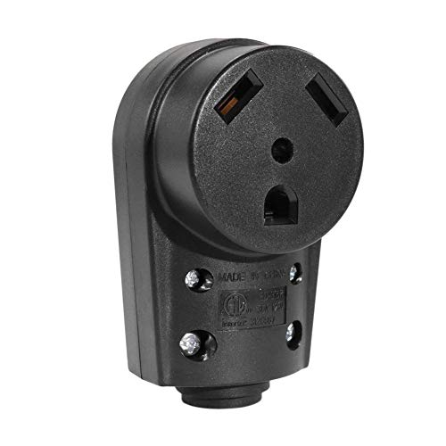 YouN 30 AMP RV Female Replacement Receptacle Plug Grip Handle Electrical Adapter (Plug Power 30 Amp)