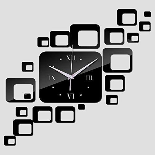 ACLOCK Reloj De Pared De Moda Tamaño Grande DIY Espejo De Acrílico...