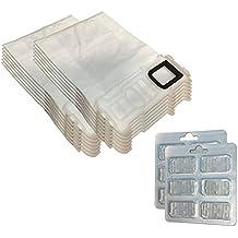 Juego 12 bolsas/bolsas (microfibra) + 12 Ambientadores para aspiradora Vorwerk Folletto Kobold