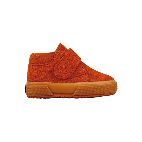 Superga S001NW0 2174-BSUJ, Chaussures montantes mixte enfant Dk Orange