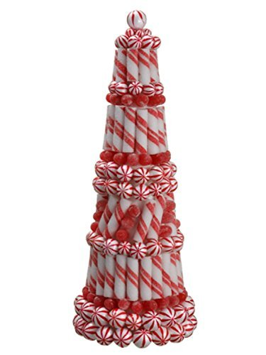 allstate-peppermint-twist-sugared-gumdrop-table-top-christmas-cone-tree-topiary-20-by-allstate
