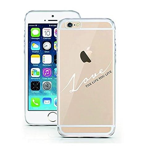 iPhone 5 Hülle von licaso® für das Apple iPhone 5 & 5S SE aus TPU Silikon LOVE the Life you live Liebe das Leben Muster ultra-dünn schützt Dein iPhone SE & ist stylisch Schutzhülle Bumper in einem (iPhone 5 5S SE, LOVE the life you live)