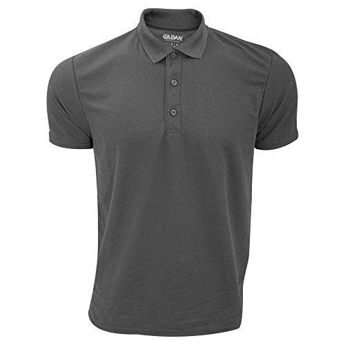 Gildan Herren Performance Sport Double Pique Polo-Shirt Tannengrün