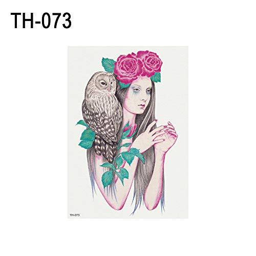 SEGRJ Fashion Girl & Animal musterarm wasserdichter temporärer Body Art Tattoo Sticker TH-073 (Kid Temporäre Tattoos)