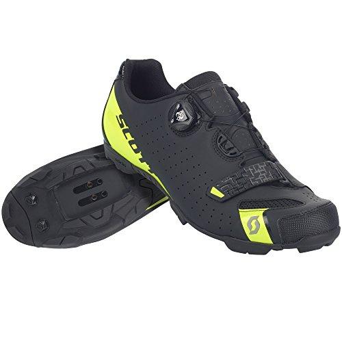 SCOTT MTB Comp Boa Zapatillas de ciclismo, negro y amarillo, 2018, matt black/sulphur yellow, 46