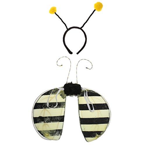 Girl Kostüm Bumble Bee - sharprepublic Girls Boys Insect Bumble Bee Costume Fairy & Antennas Headband Set