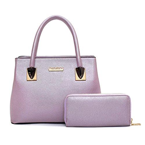 Lady Stuzzicadenti Modello Borsa Madre 2 Set Tendenza Moda Spalla Messenger Borsa Portafoglio Purple