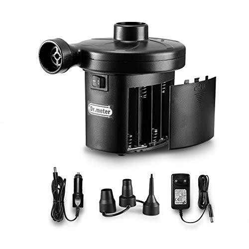 Reversible Luft (Dr.meter Elektrische Luftpumpe, Elektropumpe Power Pump Aufblasen/Aus Lassen, Schnellbefüllende Luftmatratzepumpe für Schlauchboote, Reifen, floßbett, Boot,Pool Spielzeug)
