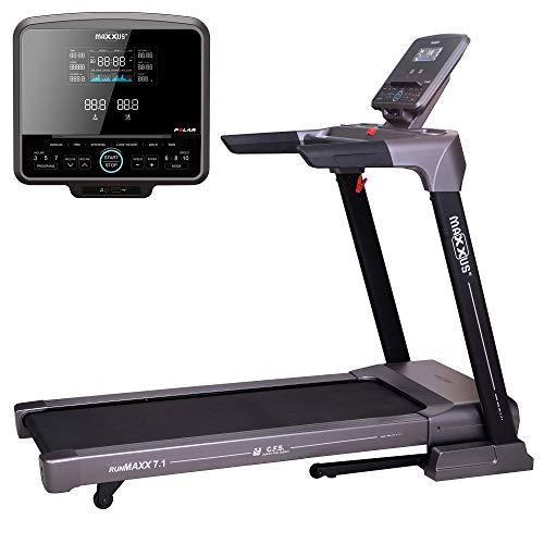 Laufband MAXXUS RunMaxx 7.1 Klappbar - Vielseitig Einsetzbare, Platzsparende Treadmill - 18km/h, Starker 2,5 PS DC-Motor - Großzügige Lauffläche Für Sicheres Trainingsgefühl - Ideal Für Zuhause -