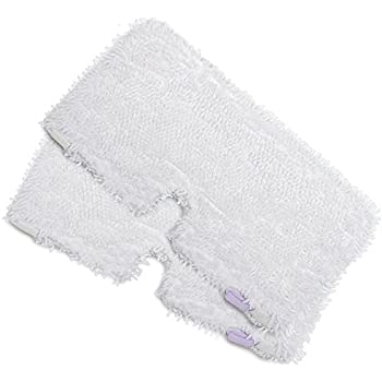 """2Pcs Microfiber Steam Mop Pad 12.59/""""x7.08 White Replacement for Shark S3550//S3901//S3601//S3501"""