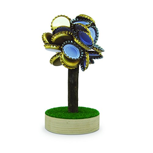 magnets4you Magnetischer Bierbaum - Anziehender Kronkorken-Sammler, Holz, Multi-Colored, Costumes