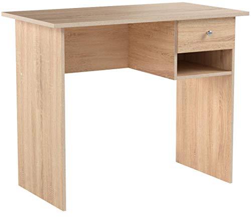 COMIFORT, Schreibtisch mit Schublade und Regal, Computertisch, Büroschreibtische, Maße: 90 x 50 x 74 cm