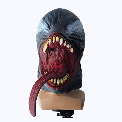JUFENG Erwachsene Cosplay Kostüm Film Superheld Horror Helm Latex Kopf Kopfbedeckung Kostüm Merchandise Prop (Temática Fiesta De Halloween)