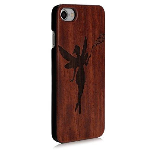 Arktis iPhone 8 / 7 Case, Arktis Holzhülle Holz Cover - Weltkarte Zauberfee