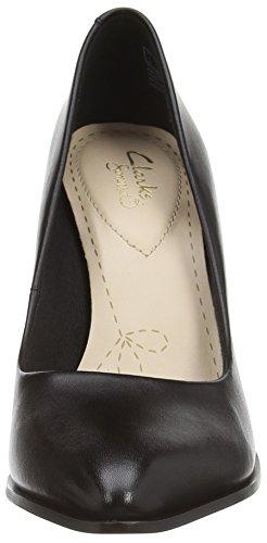 Clarks Azizi Poppy Damen Pumps Schwarz (Black Leather)