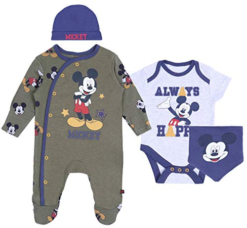 Conjunto para bebé Azul Marino-Khaki Mickey Disney 0-2 m 56 cm