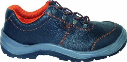 Sicherheitsschuh S3 2441-0-100-46 Schuh, Stahlkappe, Stahlzwischensohle, Überkappe, Echt Leder, ölbeständige Sohle, Größe 46, Farbe: schwarz