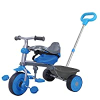 Guaranteed4Less Childrens Pedal Bike Trike Tricycle Kids 2-in-1 Push Along Buggy Parents Control