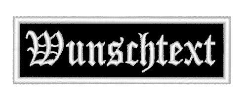 Aufnäher/Patch 8 x 2,5cm Wunschtext Personalisiert