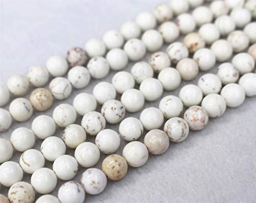Vente en gros howlite Perles, 4 mm 6 mm 8 mm 10 mm 12 mm howlite Perles rondes. howlite Perles en gros. vente en gros Perles 4mm